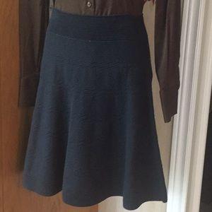 Navy blue knit skirt NWOT